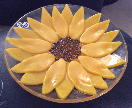 Fused Glass Small Sunflower Dish