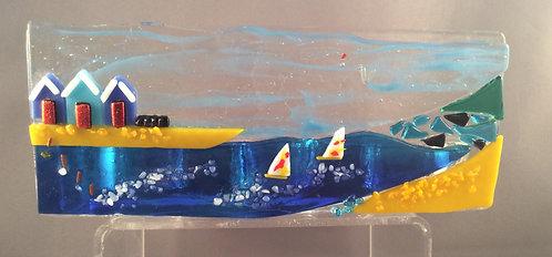 Fused Glass Sea Scene Tealight