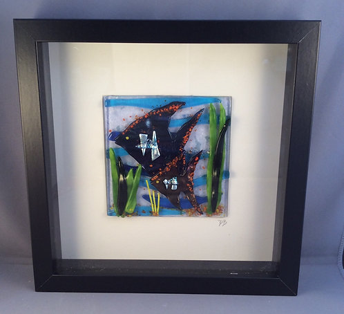 Fused Glass Angel Fish Picture