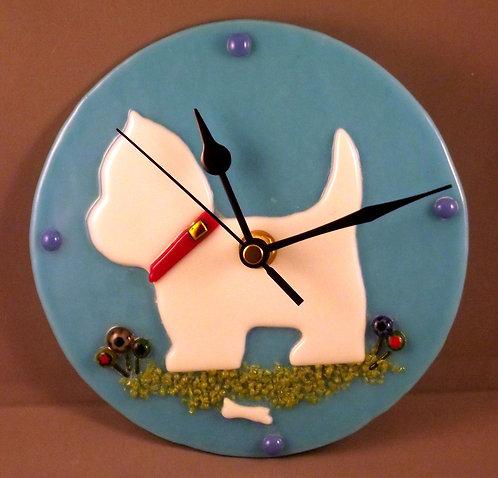 Westie Dog Clock
