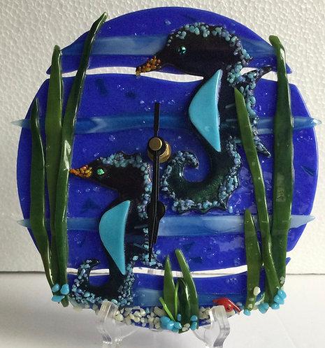 Underwater Seahorse Clock