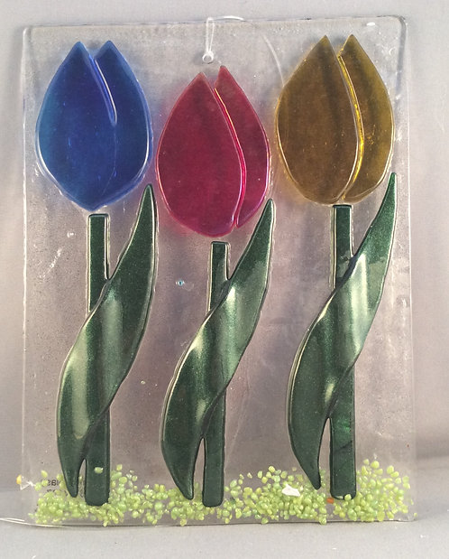 Fused Glass Tulip Trio Hanger