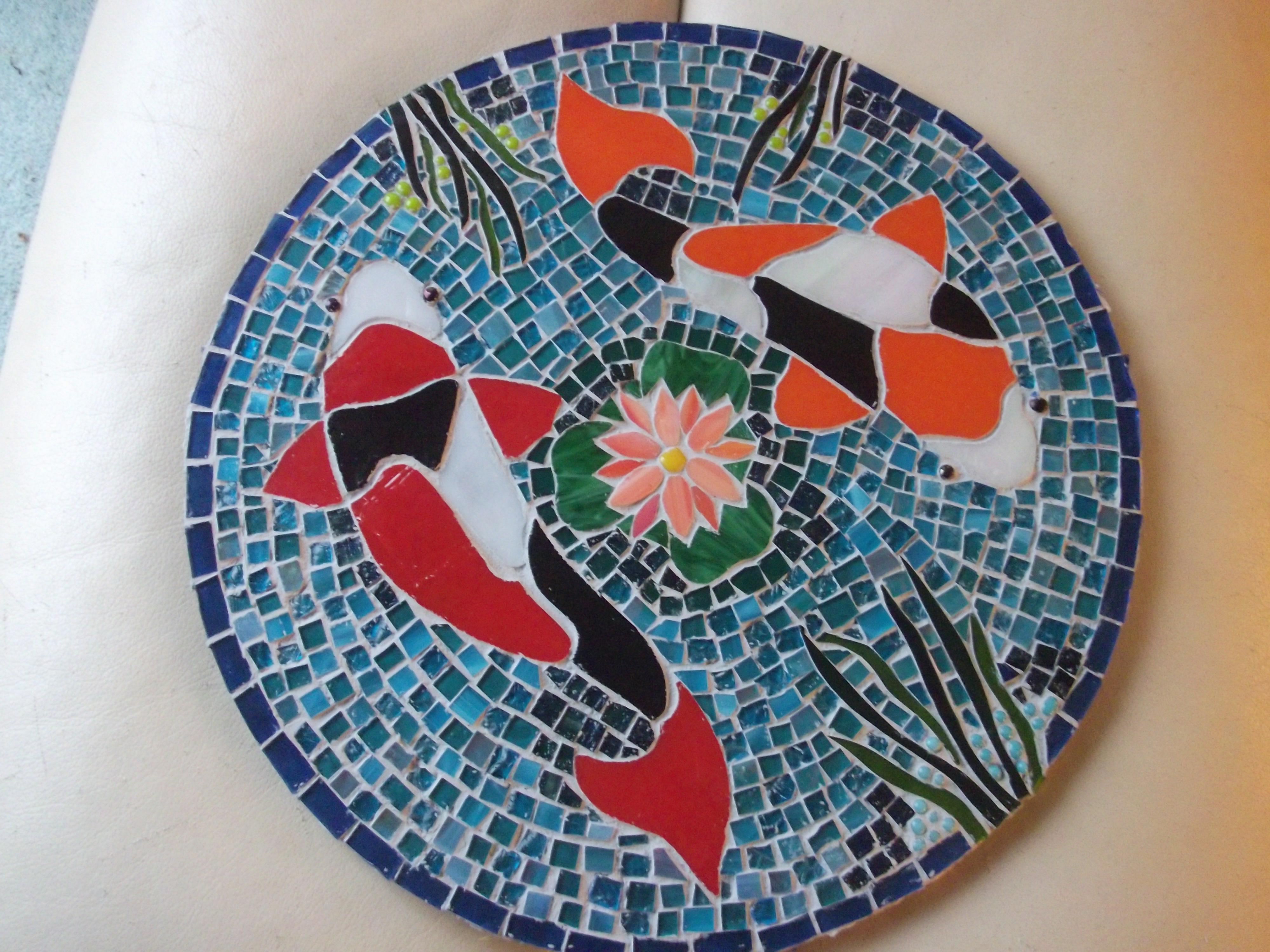 Koi Mosaic Wall Hanging