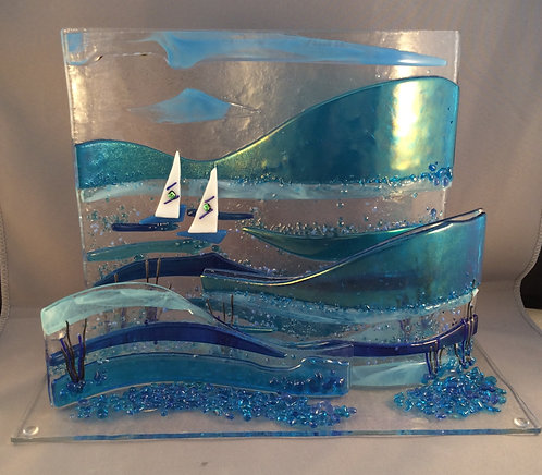 Freestanding 3D Calm Waters Scene Wave