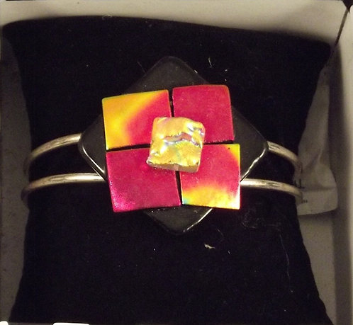 Dichroic  Glass Square Bangle