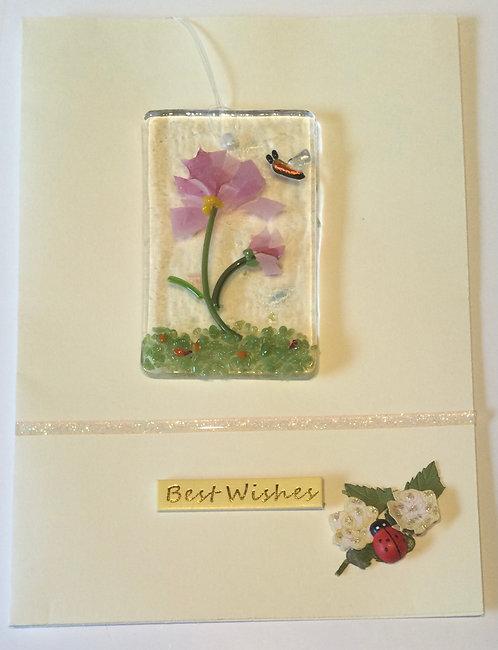 Glass Confetti Flower Card