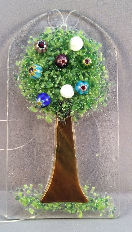 Fused Glass Tree Hanger