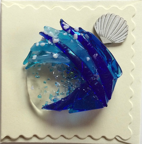 Glass Wave Magnet Card