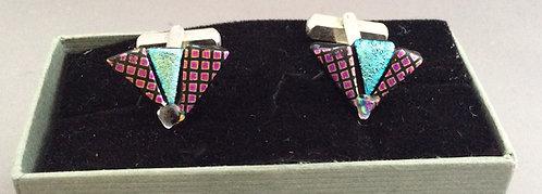 Dichroic Glass Fan Cufflinks