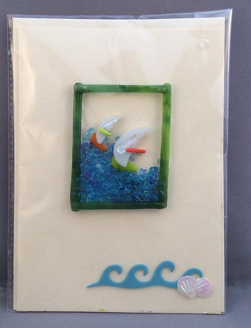 Glass Wind Surfer Card