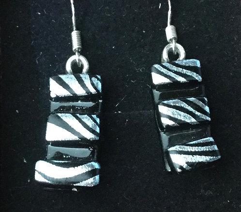 Dichroic Zebra Earrings