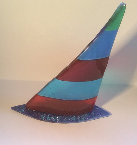 Freestanding Fused Glass Sails