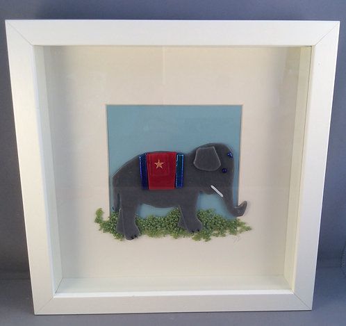 Fused Glass Elephant Picture