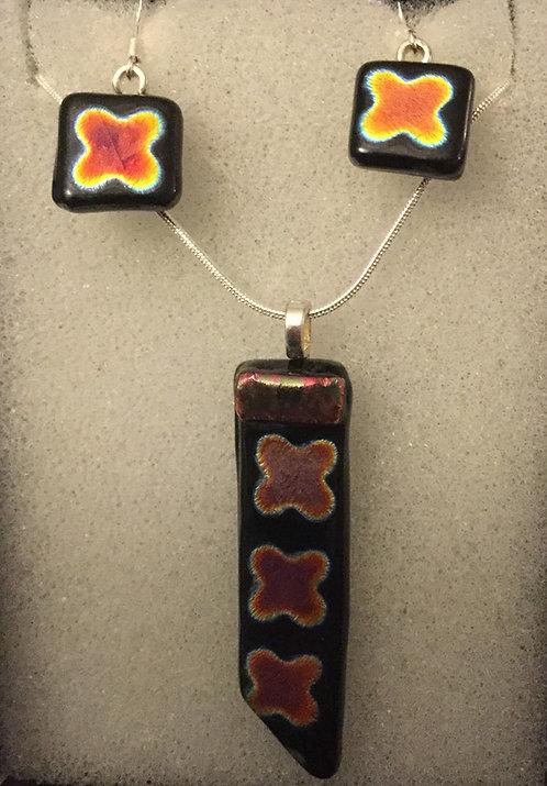 Dichroic Flower Jewellery Set