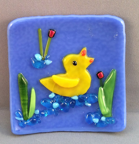 Fused Glass Duck Dish