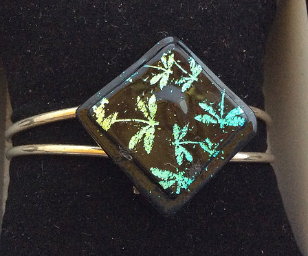 Dichroic  Glass Dragonfly Bangle