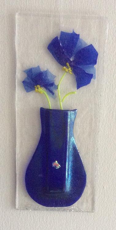 Fused Glass Confetti Flower Vase Hanger