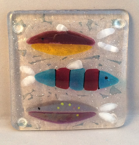 Fused Glass Fish Coaster