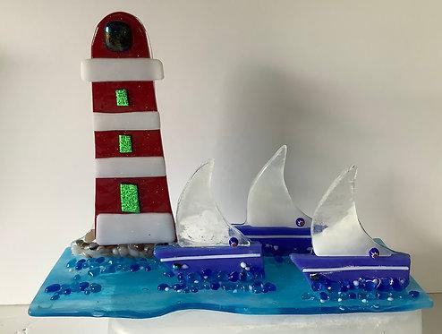 Freestanding Lighthouse & Baots