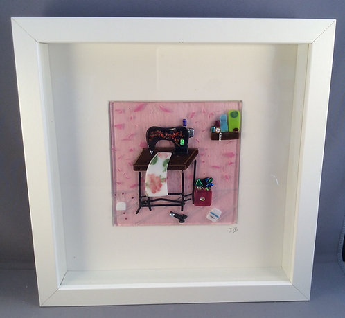 Fused Glass Sewing Machine Room Picture