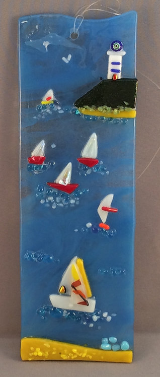 Fused Glass Sea Scene Hanger