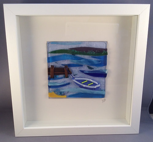 Fused Glass Rowing Boat Picture