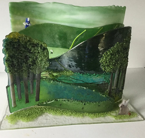 Freestanding 3D Country Scene Wave