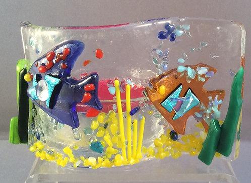 Fused Glass Fish Tealight