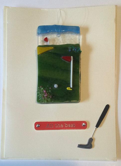 Glass Golf Card