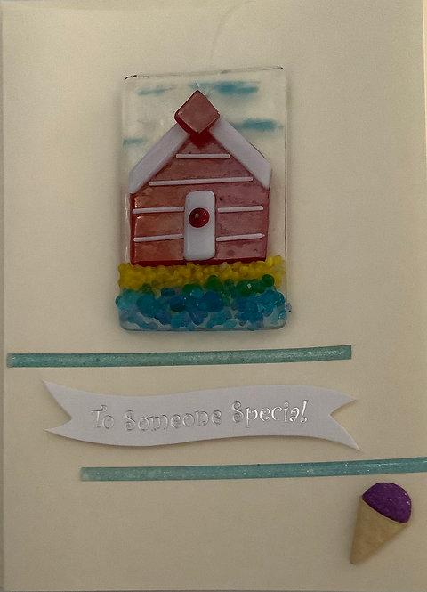 Glass Beach Hut Card