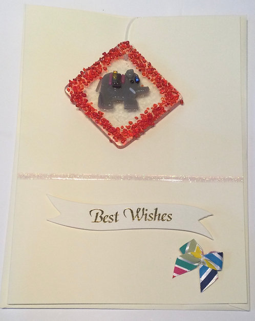 Glass Elephant Card
