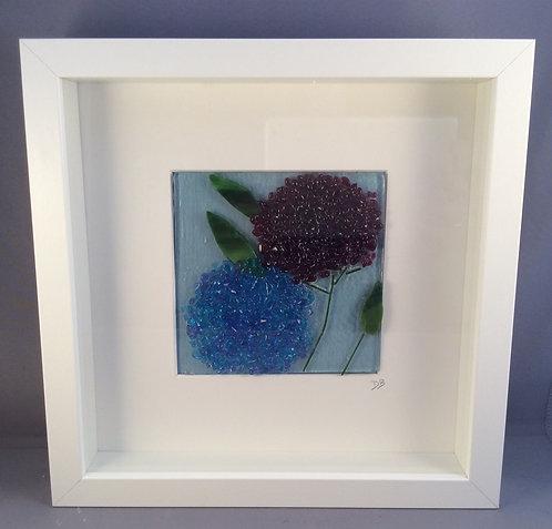 Fused Glass Hydrangeas Picture