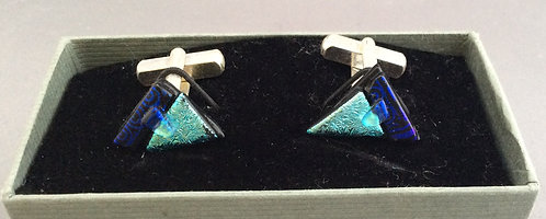 Dichroic Glass Triangle Cufflinks