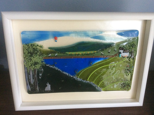 Fused Glass Country Scene  Picture