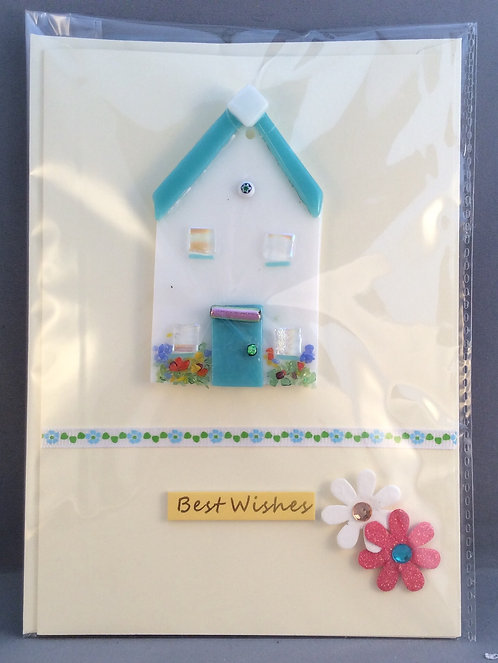 Fused Glass New Home  Card