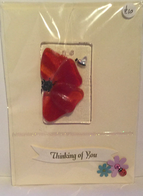 Glass Poppy Card