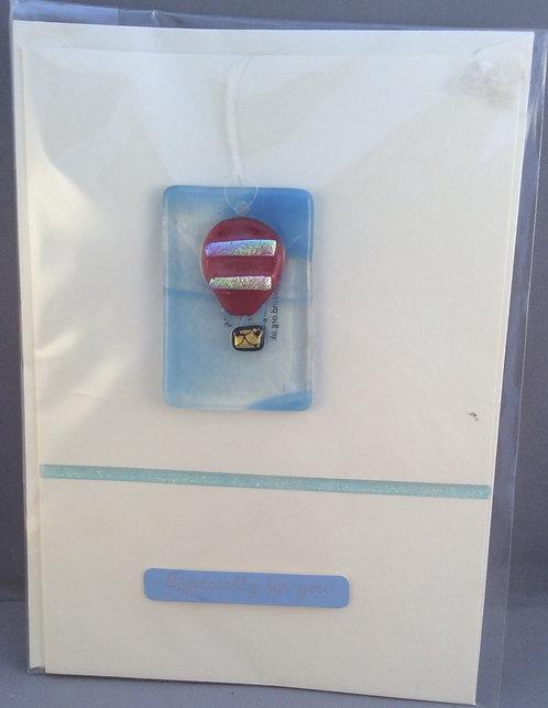 Fused Glass Hot Air Balloon Card