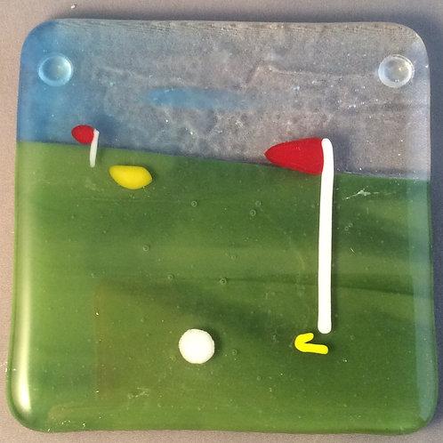 Glass Golf Course Coaster
