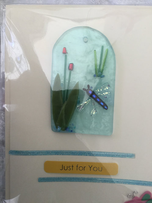 Glass Dragonfly Card