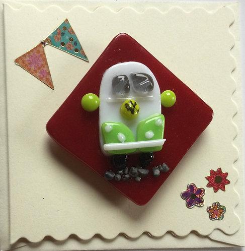 Glass Campervan Magnet Card