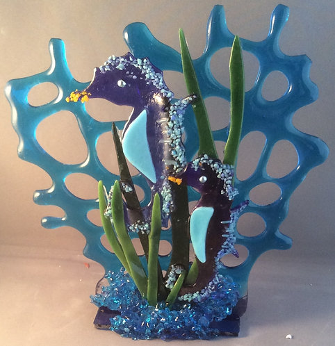 Freestanding Coral & Seahorses