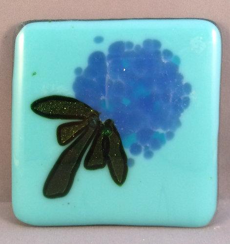 Fused Glass Hydrangea Flower Coaster
