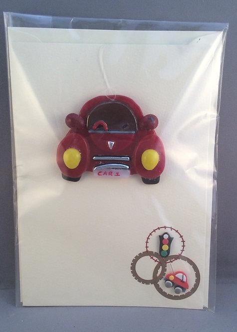 Fused Glass Car Card