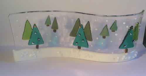 Fused Glass Christmas Tree Wave