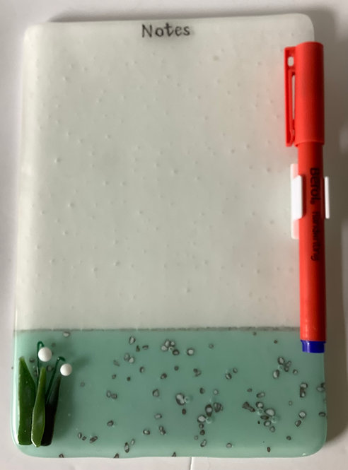 Free Standing Glass Note Pad