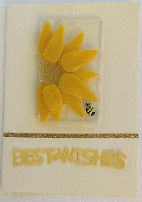 Glass Sunflower Card