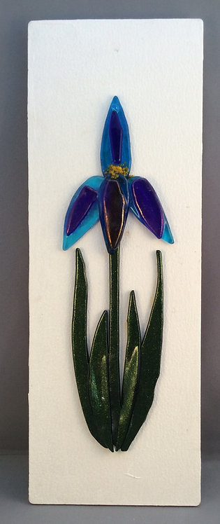 Fused Glass Single Iris Picture