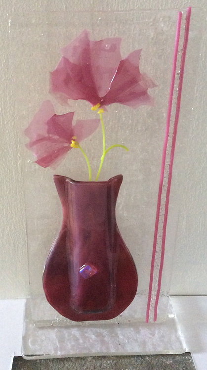 Freestanding Fused Glass Confetti Vase