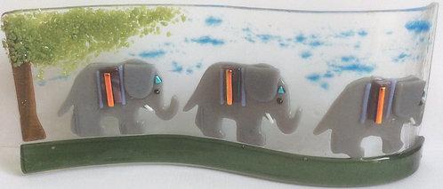 Freestanding Elephants Wave