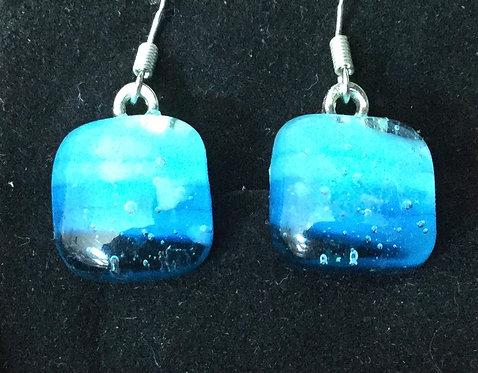 Glass Frit Square Earrings